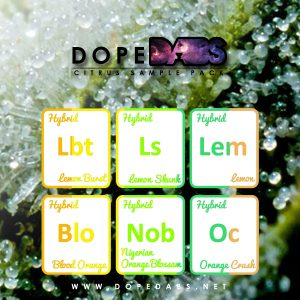 Dope Dabs Cannabis Strain Specific Terpene Profile Citrus Sample Pack