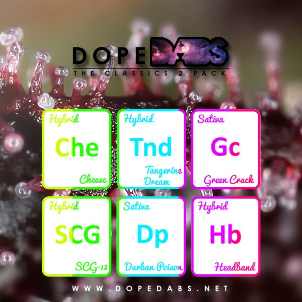 Dope Dabs Cannabis Strain Specific Terpene Profile Sample Pack The Classics 2