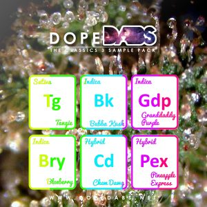Dope Dabs Cannabis Strain Specific Terpene Profile Sample Pack The Classics 3
