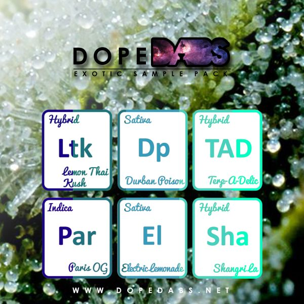 Dope Dabs Cannabis Strain Specific Terpene Profile Sample Pack The Exotics