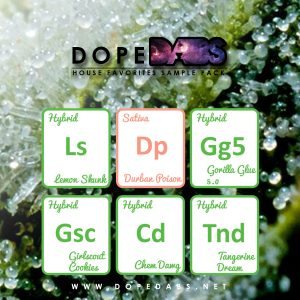 Dope Dabs Cannabis Strain Specific Terpene Profile Sample Pack House Favorites